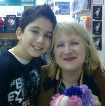 Roslyn and a fan at a recent book signing